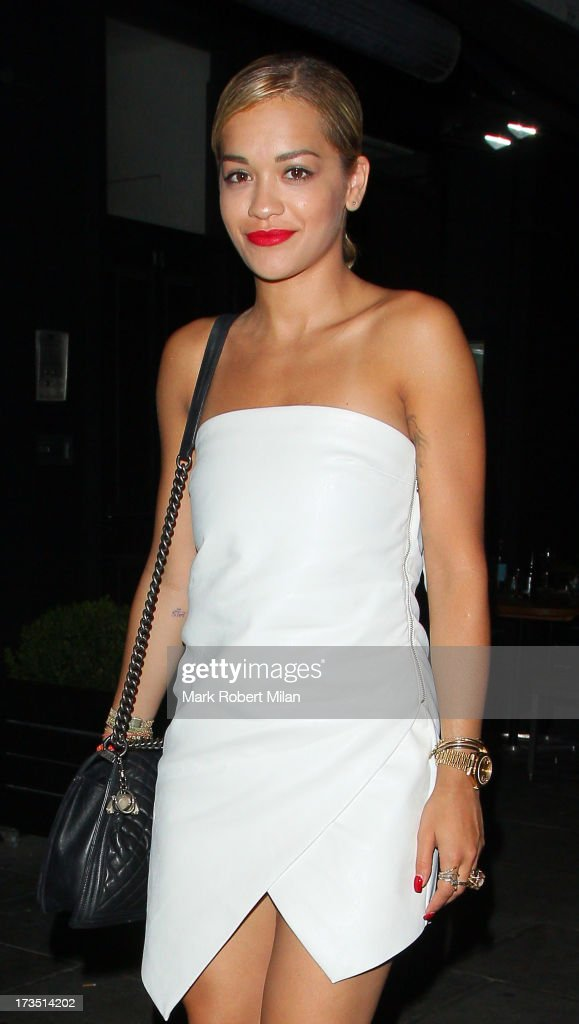 <a gi-track='captionPersonalityLinkClicked' href=/galleries/search?phrase=Rita+Ora&family=editorial&specificpeople=5686485 ng-click='$event.stopPropagation()'>Rita Ora</a> leaving E&O restaurant on July 15, 2013 in London, England.