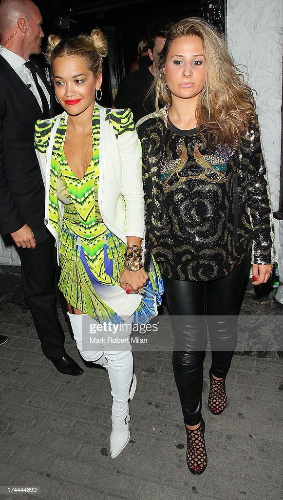 <a gi-track='captionPersonalityLinkClicked' href=/galleries/search?phrase=Rita+Ora&family=editorial&specificpeople=5686485 ng-click='$event.stopPropagation()'>Rita Ora</a> leaving Le Baron club on July 25, 2013 in London, England.