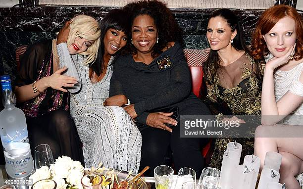 Rita Ora Naomi Campbell Oprah Winfrey Georgina Chapman and Karen Elson attend the Weinstein Co Entertainment and Pathe postBAFTA party hosted by...