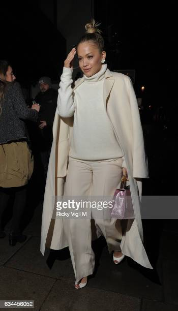 Rita Ora on a night out at Electric cinema in Notting hill after attending the'Fifty Shades Darker' premiere afterparty at Massimo's Corinthia Hotel...