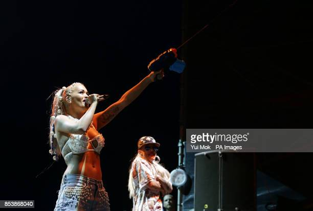 Rita Ora performing on the Arena Stage during day two of the V Festival at Hylands Park in Chelmsford Essex