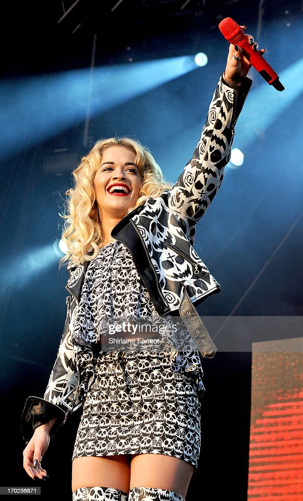 <a gi-track='captionPersonalityLinkClicked' href=/galleries/search?phrase=Rita+Ora&family=editorial&specificpeople=5686485 ng-click='$event.stopPropagation()'>Rita Ora</a> performs at Day 2 of the Parklife Festival at Heaton Park on June 9, 2013 in Manchester, England.