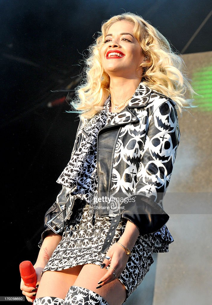 Rita Ora performs at Day 2 of the Parklife Festival at Heaton Park on June 9, 2013 in Manchester, England.