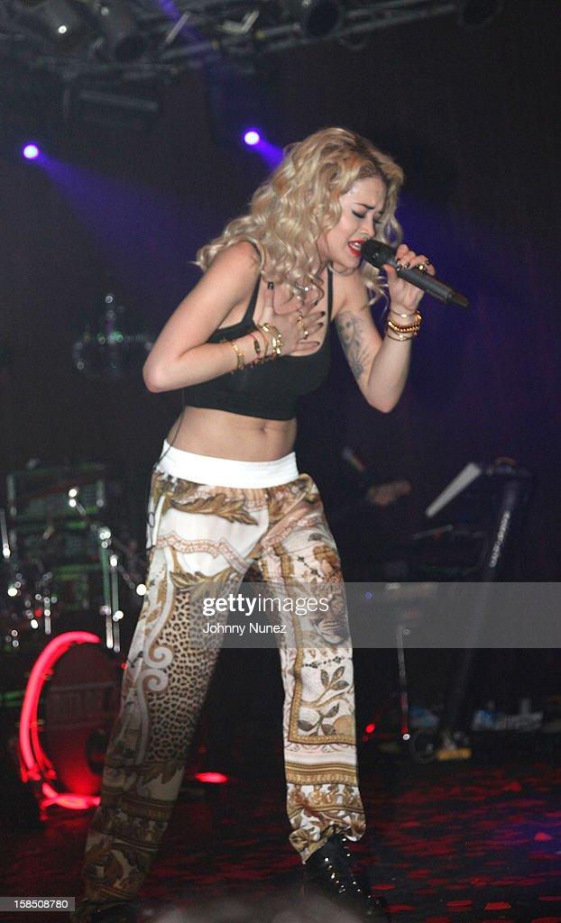 Rita Ora performs at Highline Ballroom on December 17, 2012 in New York City.