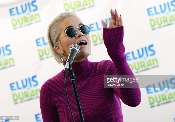 Rita Ora performs at 'The Elvis Duran Z100 Morning Show' at Z100 Studio on March 23 2015 in New York City