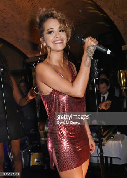 Rita Ora performs at the Rita Ora dinner and performance at Annabel's on June 27 2017 in London England