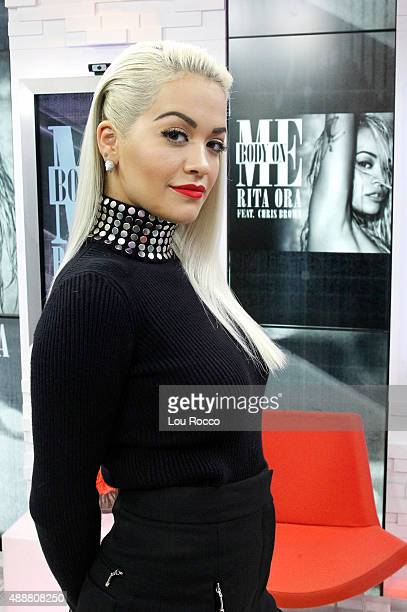 AMERICA Rita Ora performs live on 'Good Morning America' 9/16/15 airing on the ABC Television Network