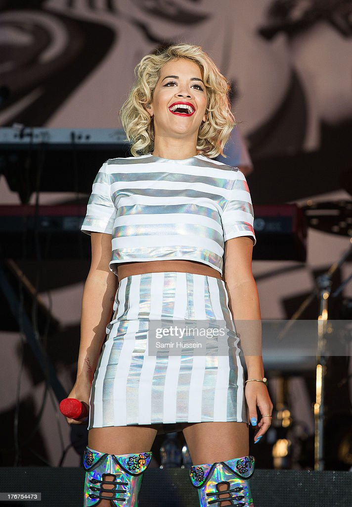 <a gi-track='captionPersonalityLinkClicked' href=/galleries/search?phrase=Rita+Ora&family=editorial&specificpeople=5686485 ng-click='$event.stopPropagation()'>Rita Ora</a> performs live on the 4 Music Stage on day 2 of V Festival at Hylands Park on August 18, 2013 in Chelmsford, England.