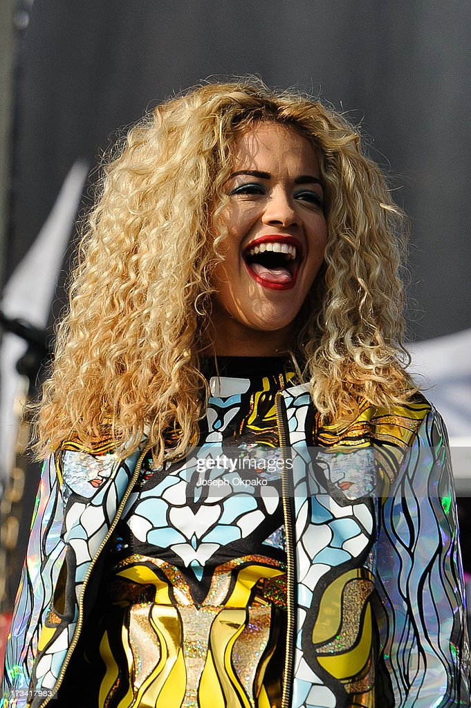 <a gi-track='captionPersonalityLinkClicked' href=/galleries/search?phrase=Rita+Ora&family=editorial&specificpeople=5686485 ng-click='$event.stopPropagation()'>Rita Ora</a> performs on day 2 of the Yahoo! Wireless Festival at Queen Elizabeth Olympic Park on July 13, 2013 in London, England.