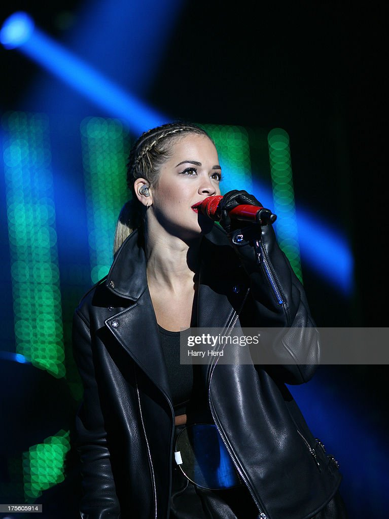 <a gi-track='captionPersonalityLinkClicked' href=/galleries/search?phrase=Rita+Ora&family=editorial&specificpeople=5686485 ng-click='$event.stopPropagation()'>Rita Ora</a> performs on stage at Lytham Proms at Royal Lytham & St. Annes on August 4, 2013 in Lytham St Annes, England.