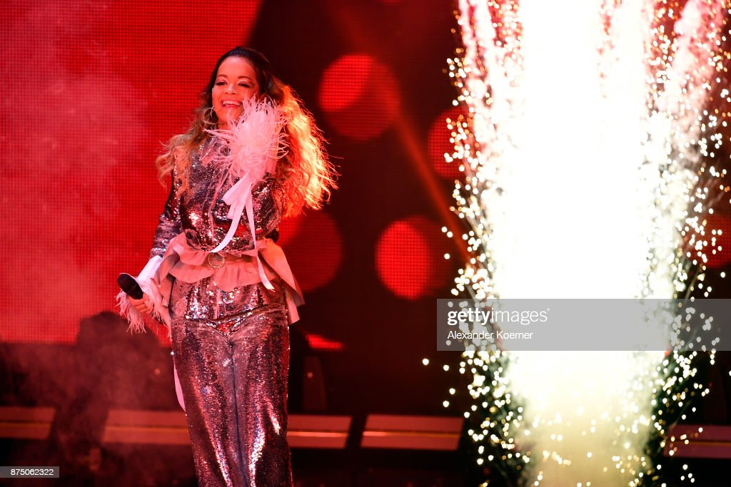Rita Ora performs on stage during the Bambi Awards 2017 show at Stage Theater on November 16, 2017 in Berlin, Germany.