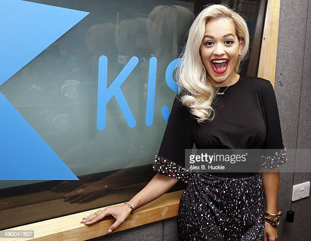 Rita Ora pictured at Kiss FM Studio's on May 13 2014 in London England