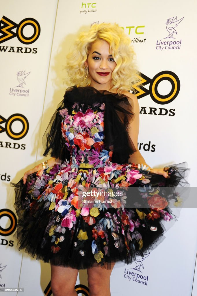 Rita Ora poses in the awards room at the 2012 MOBO awards at Echo Arena on November 3, 2012 in Liverpool, England.