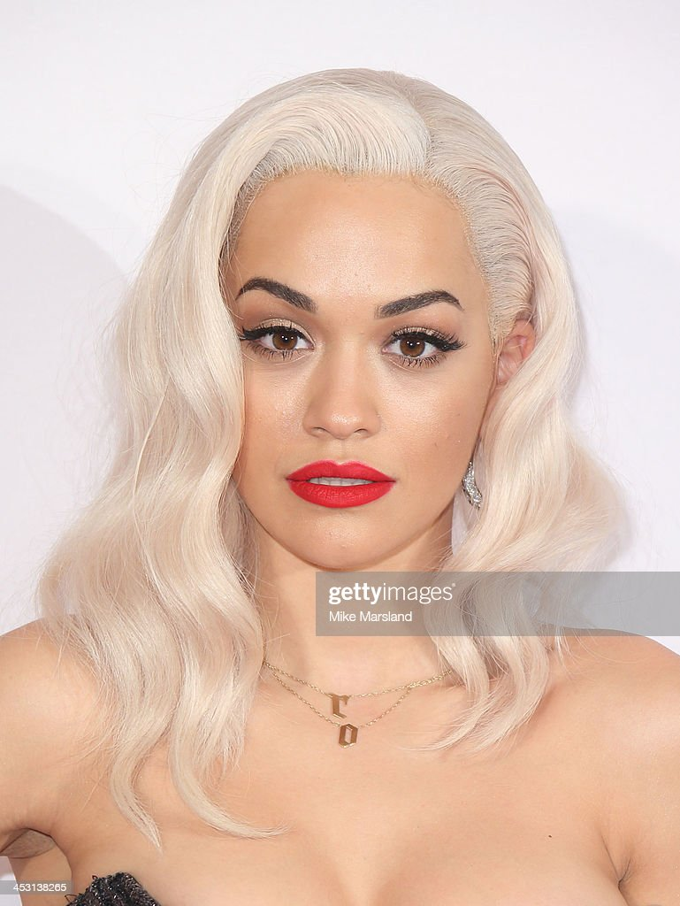 Rita Ora poses in the winners room at the British Fashion Awards 2013 at London Coliseum on December 2, 2013 in London, England.