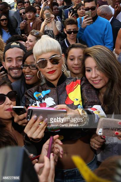 Rita Ora Seen Around Spring 2016 New York Fashion Week The Shows Day 5 on September 14 2015 in New York City