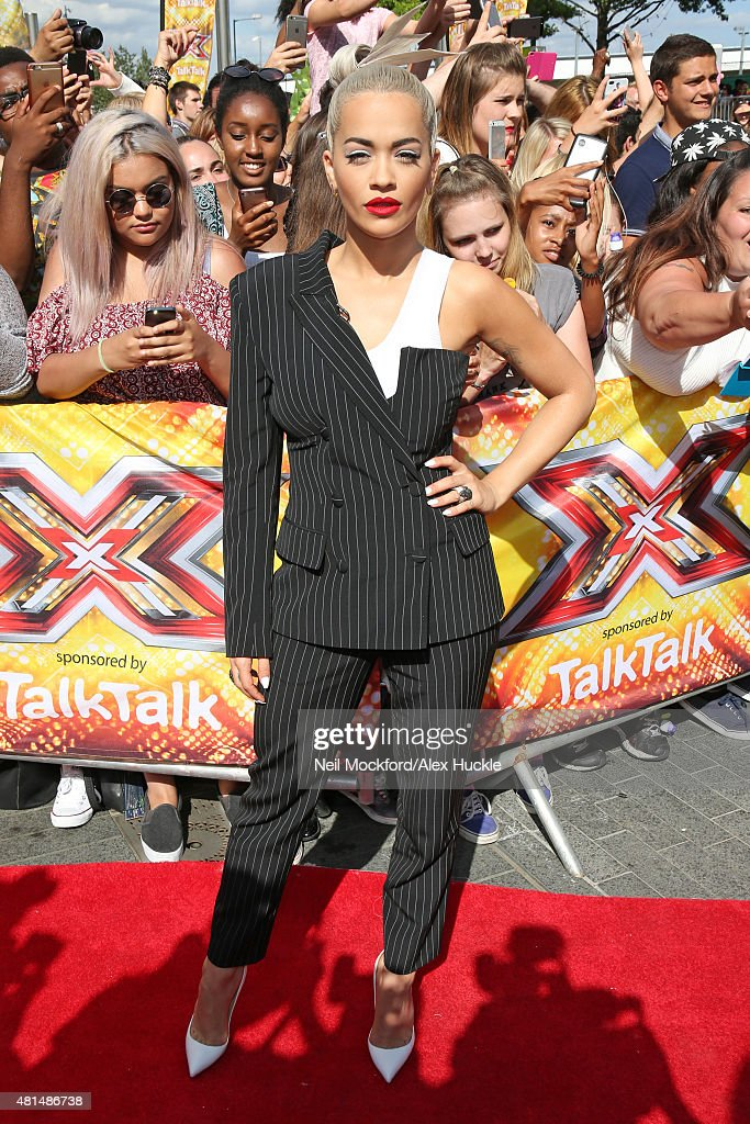 Rita Ora seen arriving at X Factor Auditions at Wembley Arena on July 21 2015 in London England