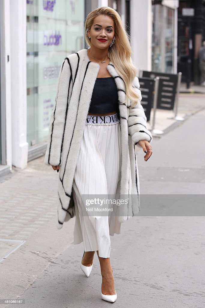 Rita Ora seen at a studio on March 28, 2014 in London, England.