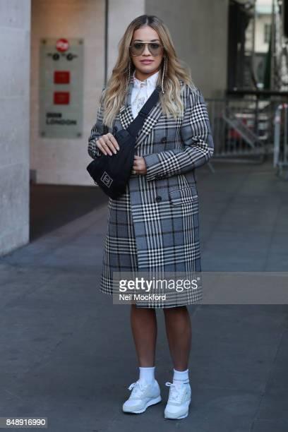 Rita Ora seen at BBC Radio One on September 18 2017 in London England