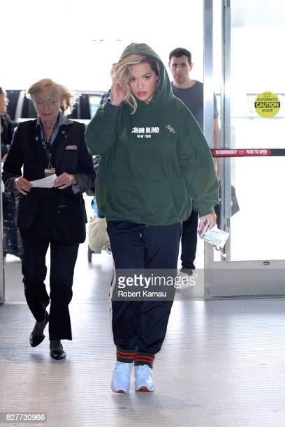 Rita Ora seen at JFK Airport on August 8 2017 in New York City