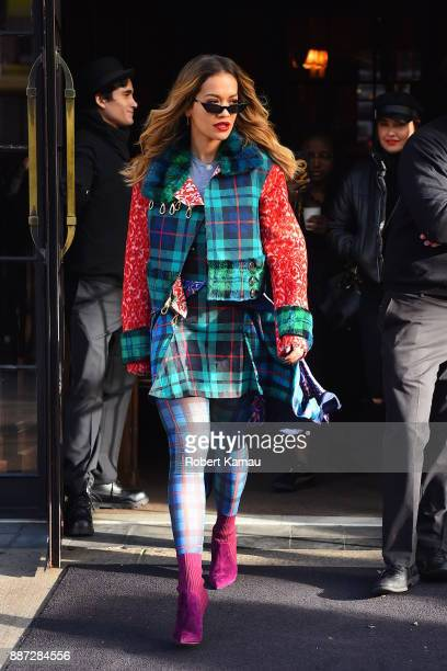 Rita Ora seen out and about in Manhattan on December 6 2017 in New York City