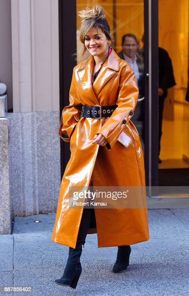 Rita Ora seen out and about in Manhattan on December 7 2017 in New York City