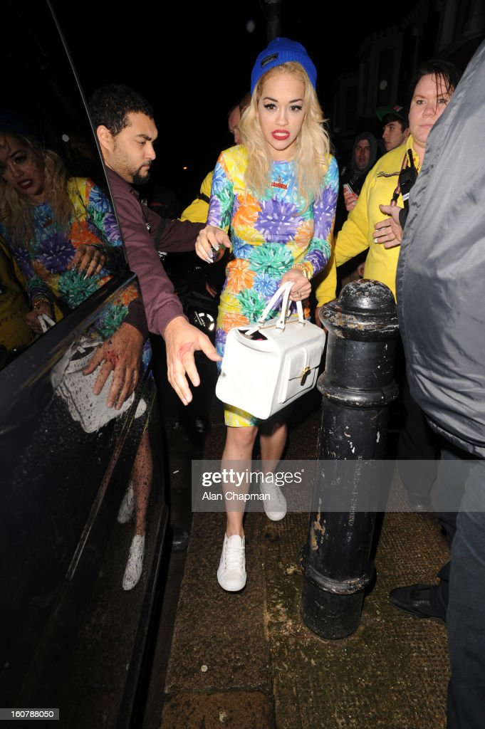 Rita Ora sighting at Shepherds Bush Empire on February 5 2013 in London England
