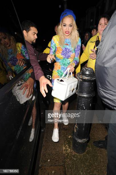 Rita Ora sighting at Shepherds Bush Empire on February 5 2013 in London England