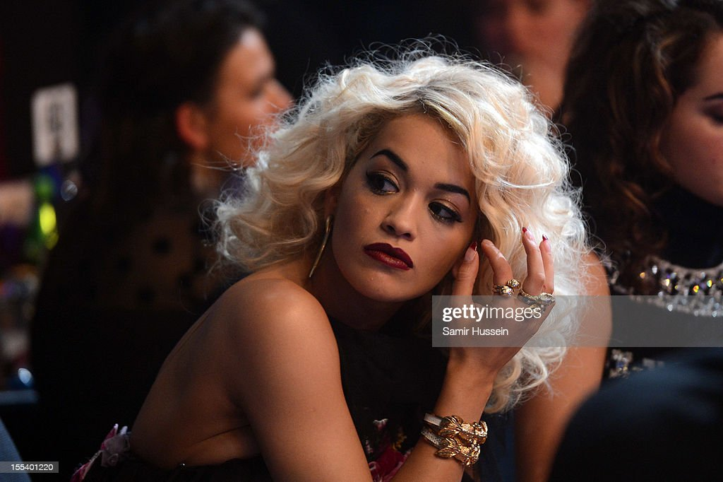 Rita Ora ttends the 2012 MOBO awards at Echo Arena on November 3, 2012 in Liverpool, England.