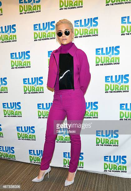 Rita Ora visits 'The Elvis Duran Z100 Morning Show' at Z100 Studio on March 23 2015 in New York City