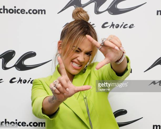 Rita Ora visits the Music Choice studios on June 19 2017 in New York City