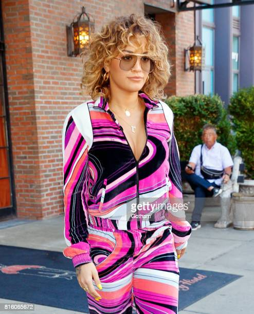 Rita Ora wears a psychadelic outfit on July 17 2017 in New York City