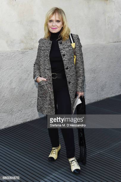 Rita Pavone attends a 'Private view of 'TV 70 Francesco Vezzoli Guarda La Rai' at Fondazione Prada on May 7 2017 in Milan Italy