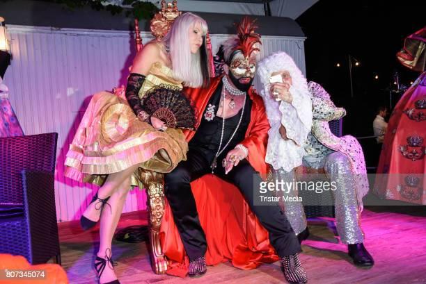 Rita Schmidt Harald Gloeoeckler and Carl Jakob Haupt attend the Fashion Week Berlin Opening Night With Dandy Diary And Harald Gloeoeckler at Insel...