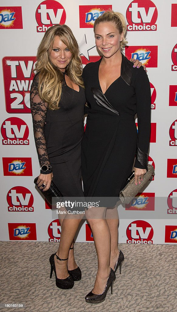 Rita Simons and Samantha Womack attend the TV Choice Awards 2013 at The Dorchester on September 9, 2013 in London, England.