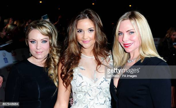 Rita Simons Jacqueline Jossa and Samantha Womack arriving for the 2014 National Television Awards at the O2 Arena London