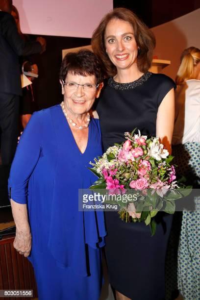 Rita Suessmuth and Katarina Barley attend the Emotion Award at Laeiszhalle on June 28 2017 in Hamburg Germany