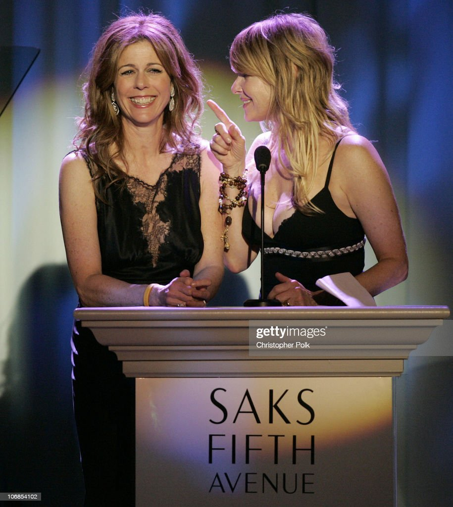 Rita wilson and kate capshaw during saks fifth avenue s unforgettable