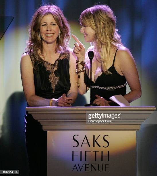 Rita Wilson and Kate Capshaw during Saks Fifth Avenue's Unforgettable Evening Benefiting Women's Cancer Research Fund Inside at The Regent Beverly...