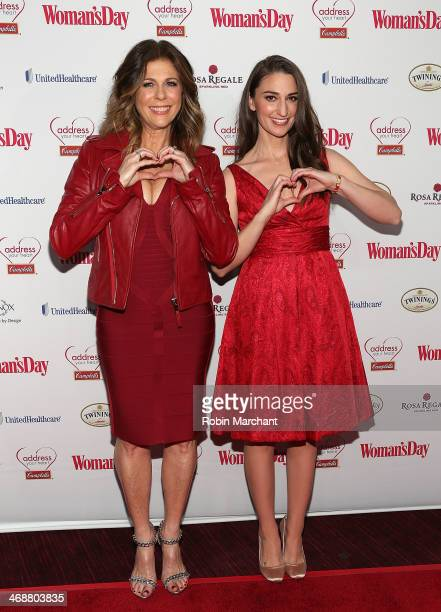 Rita Wilson and Sara Bareilles attend the 11th Annual Red Dress awards at Allen Room at Lincoln Center on February 11 2014 in New York City