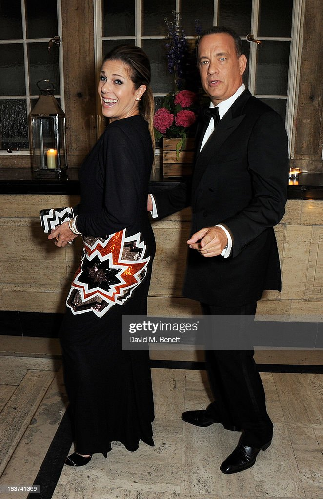 <a gi-track='captionPersonalityLinkClicked' href=/galleries/search?phrase=Rita+Wilson&family=editorial&specificpeople=202642 ng-click='$event.stopPropagation()'>Rita Wilson</a> (L) and <a gi-track='captionPersonalityLinkClicked' href=/galleries/search?phrase=Tom+Hanks&family=editorial&specificpeople=201790 ng-click='$event.stopPropagation()'>Tom Hanks</a> attend an after party following the European Premiere of 'Captain Phillips', the Opening Night film of the 57th BFI London Film Festival, at The Bloomsbury Ballroom on October 9, 2013 in London, England.