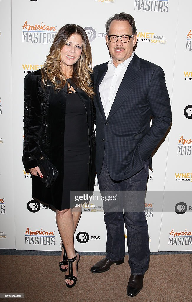 <a gi-track='captionPersonalityLinkClicked' href=/galleries/search?phrase=Rita+Wilson+-+Actress&family=editorial&specificpeople=202642 ng-click='$event.stopPropagation()'>Rita Wilson</a> and <a gi-track='captionPersonalityLinkClicked' href=/galleries/search?phrase=Tom+Hanks&family=editorial&specificpeople=201790 ng-click='$event.stopPropagation()'>Tom Hanks</a> attend the 'Inventing David Geffen' Los Angeles Premiere held at Writer's Guild Theater on November 13, 2012 in Los Angeles, California.