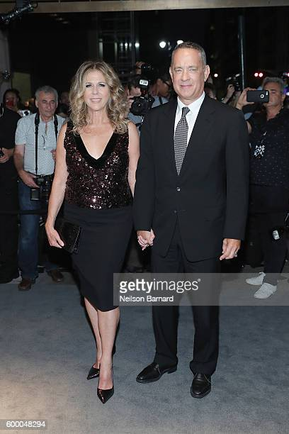 Rita Wilson and Tom Hanks attend Tom Ford fashion show during New York Fashion Week September 2016 at 99E 52d St on September 7 2016 in New York City