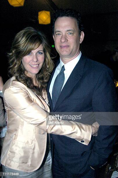 Rita Wilson and Tom Hanks during Shoah Foundation Exclusive Event at Amblin Entertainment on Universal Studios in Universal City California United...