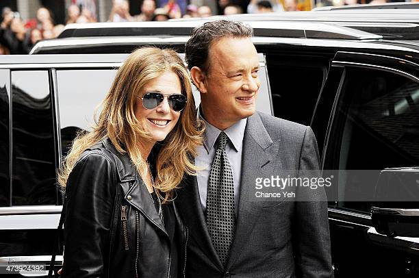 Rita Wilson and Tom Hanks visit 'Late Show With David Letterman' at Ed Sullivan Theater on May 18 2015 in New York City