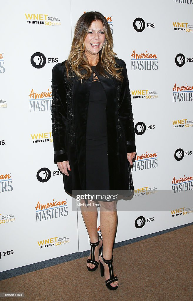 <a gi-track='captionPersonalityLinkClicked' href=/galleries/search?phrase=Rita+Wilson&family=editorial&specificpeople=202642 ng-click='$event.stopPropagation()'>Rita Wilson</a> arrives at the Los Angeles premiere of 'Inventing David Geffen' held at Writer's Guild Theater on November 13, 2012 in Los Angeles, California.