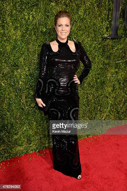 Rita Wilson attends the 2015 Tony Awards at Radio City Music Hall on June 7 2015 in New York City