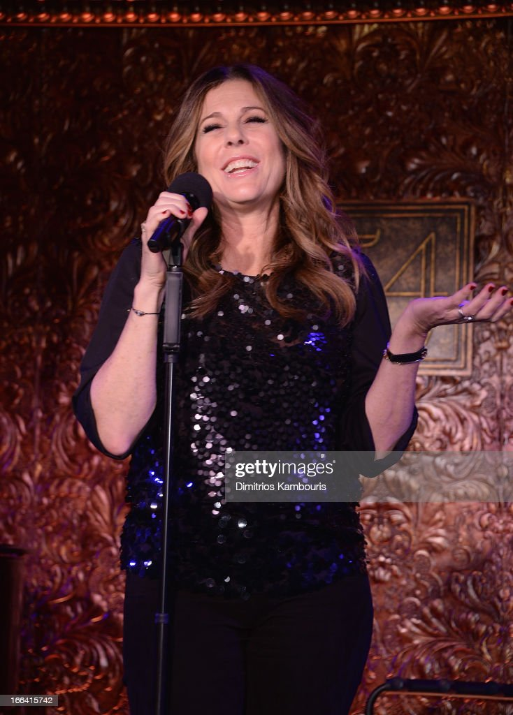 <a gi-track='captionPersonalityLinkClicked' href=/galleries/search?phrase=Rita+Wilson+-+Actress&family=editorial&specificpeople=202642 ng-click='$event.stopPropagation()'>Rita Wilson</a> attends the 54 Press Preview at 54 Below on April 12, 2013 in New York City.