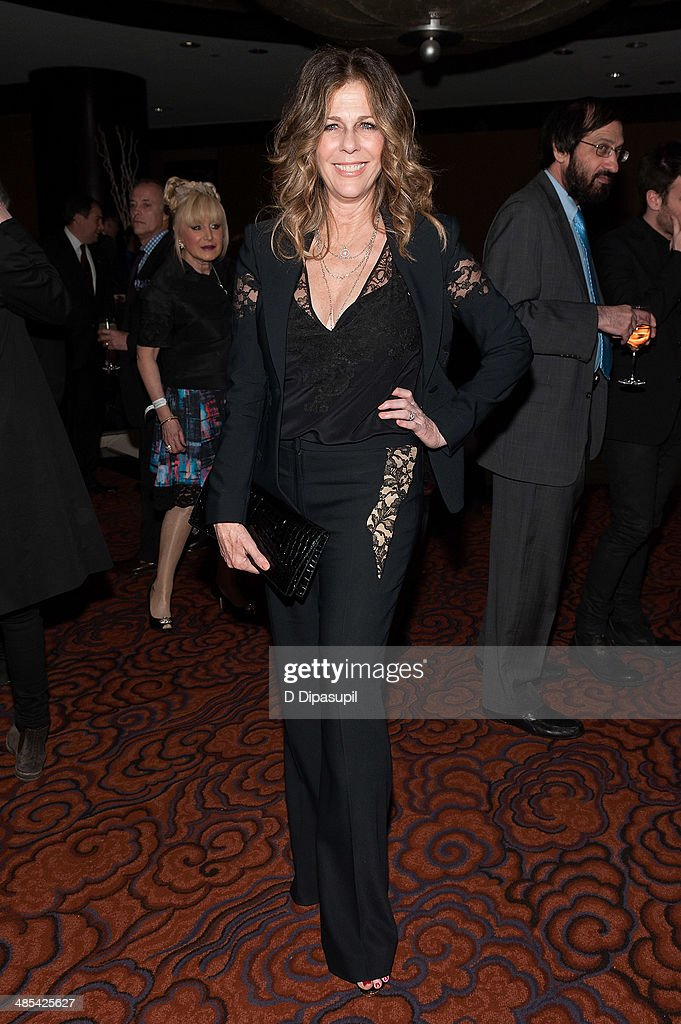 <a gi-track='captionPersonalityLinkClicked' href=/galleries/search?phrase=Rita+Wilson&family=editorial&specificpeople=202642 ng-click='$event.stopPropagation()'>Rita Wilson</a> attends the after party for the 25th Anniversary concert for the Rainforest Fund at the Mandarin Oriental Hotel on April 17, 2014 in New York City.