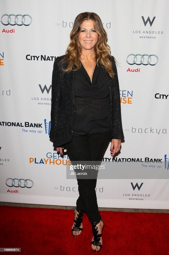 <a gi-track='captionPersonalityLinkClicked' href=/galleries/search?phrase=Rita+Wilson&family=editorial&specificpeople=202642 ng-click='$event.stopPropagation()'>Rita Wilson</a> attends the 'Backstage At The Geffen' honoring Billy Crystal at Geffen Playhouse on May 13, 2013 in Los Angeles, California.