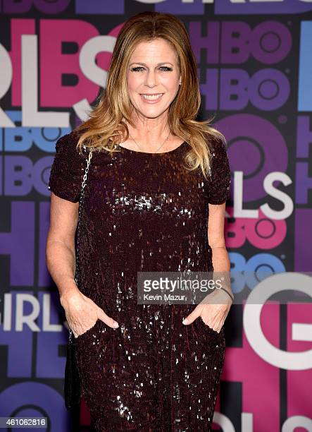 Rita Wilson attends the 'Girls' season four premiere at American Museum of Natural History on January 5 2015 in New York City